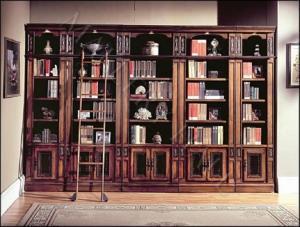 italian-chestnut-extra-large-library-bookcase-ladder-photo-bookcase-ladder