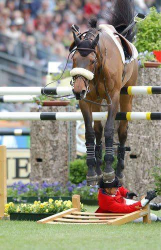 Horse on jump